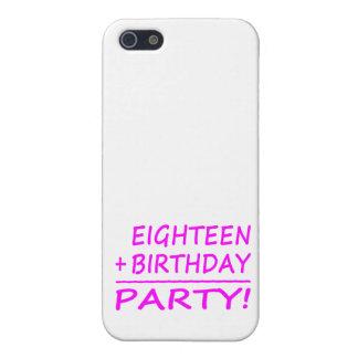 Décimo octavos cumpleaños: Dieciocho + Cumpleaños  iPhone 5 Protectores
