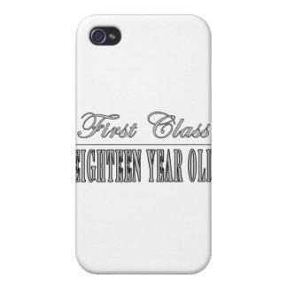 Décimo octavos cumpleaños elegantes: Primera clase iPhone 4 Fundas
