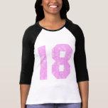 Décimo octavos regalos de cumpleaños de los chicas camisetas