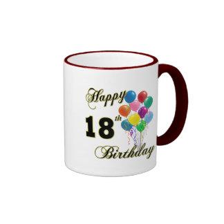 Décimo octavos regalos de cumpleaños felices tazas de café