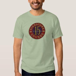 Décimo quinta camiseta del aniversario de la firma remeras