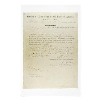 Décimo quinta constitución de los E.E.U.U. de la e Papeleria Personalizada