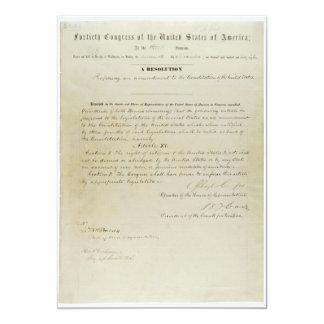 """Décimo quinta constitución de los E.E.U.U. de la Invitación 5"""" X 7"""""""