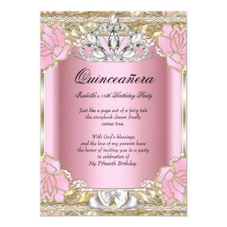 Décimo quinta fiesta de cumpleaños de princesa invitación 12,7 x 17,8 cm