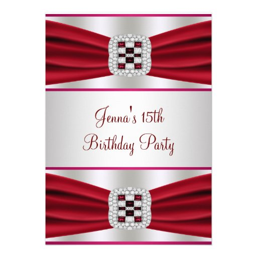 Décimo quinta invitación del cumpleaños de la cint