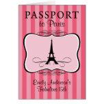 Décimo quinta invitación fabulosa del pasaporte tarjetón