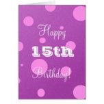 Décimo quinta tarjeta de cumpleaños feliz para el