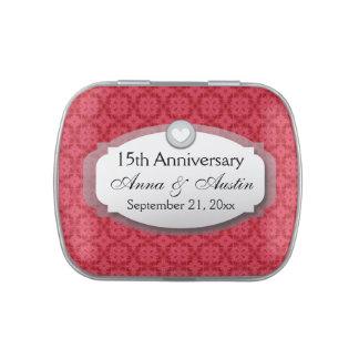 décimo quinto Aniversario de boda del aniversario Frascos De Dulces