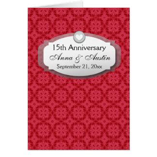 décimo quinto Aniversario de boda del aniversario Tarjeta Pequeña