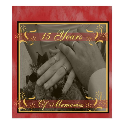 décimo quinto Aniversario de boda Impresiones