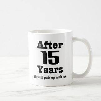 décimo quinto Aniversario (divertido) Taza Clásica