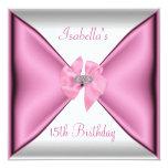 décimo quinto Arco rosado de seda bonito de la Invitación 13,3 Cm X 13,3cm