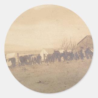 décimo quinto Caballería 1865 del PA Pegatina Redonda