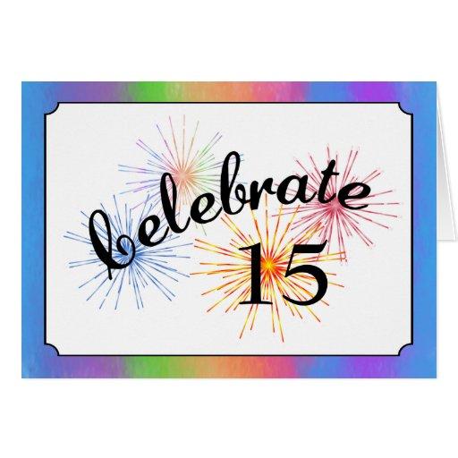 décimo quinto Celebración del aniversario Felicitacion