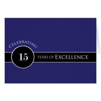 Décimo quinto círculo del aniversario del empleado tarjeta de felicitación
