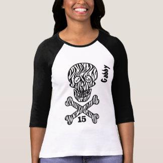décimo quinto Cráneo y bandera pirata del Camiseta