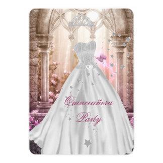 Décimo quinto cumpleaños rosado de princesa invitación 12,7 x 17,8 cm