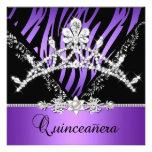 Décimo quinto diamante púrpura de la tiara de la c comunicados personalizados