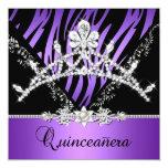 Décimo quinto diamante púrpura de la tiara de la comunicados personalizados