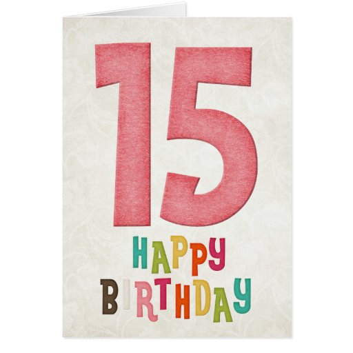 décimo quinto Diseño de tarjeta del feliz cumpleañ