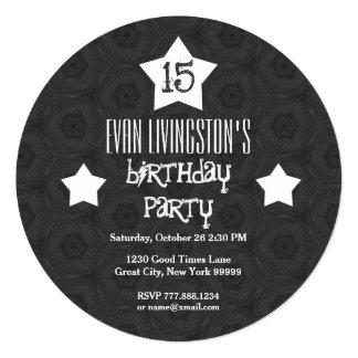 décimo quinto El blanco del círculo del negro de Invitación 13,3 Cm X 13,3cm