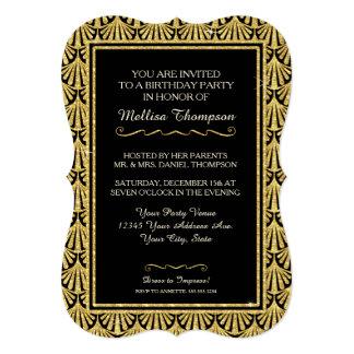 décimo quinto Estilo atractivo de Gatsby de la Invitación 12,7 X 17,8 Cm