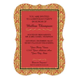 """décimo quinto Estilo atractivo de Gatsby de la Invitación 5"""" X 7"""""""