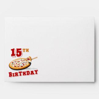 décimo quinto Fiesta de la pizza del cumpleaños