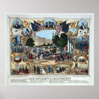 décimo quinto Impresión Abraham Lincoln de la enmi Póster