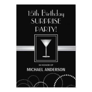 décimo quinto Invitaciones masculinas del fiesta Invitación 12,7 X 17,8 Cm