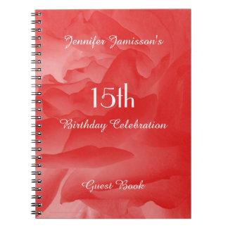 décimo quinto Libro de visitas de la fiesta de Cuaderno