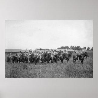décimo quinto LOS E.E.U.U. La caballería congriega Posters