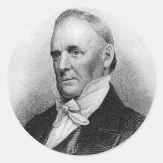 Décimo quinto presidente de James Buchanan Pegatina Redonda