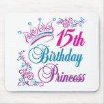 décimo quinto Princesa del cumpleaños Tapete De Raton