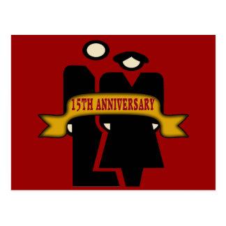 décimo quinto Regalos del aniversario de boda Postal