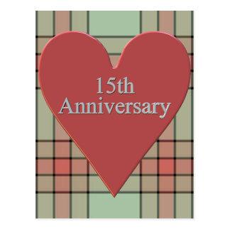 décimo quinto Regalos del aniversario de boda Postales