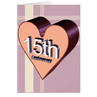 décimo quinto Regalos del aniversario de boda Tarjeta De Felicitación