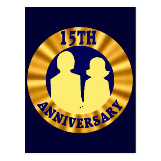 décimo quinto Regalos del aniversario de boda Tarjetas Postales