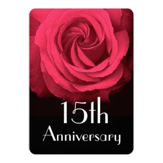 """décimo quinto Rosa rojo de rubíes A02D del Invitación 5"""" X 7"""""""