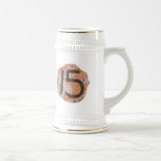 Décimo quintos regalos de cumpleaños de la pintada jarra de cerveza
