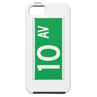 Décimo sistema de pesos americano, placa de calle funda para iPhone 5 tough