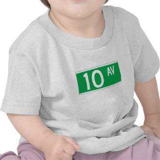 Décimo sistema de pesos americano, placa de calle camiseta