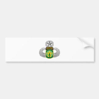 décimosexto Brigada de la P.M. - salte las alas Pegatina De Parachoque