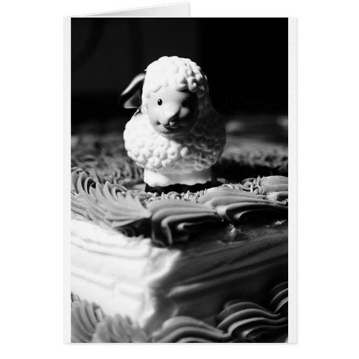 décimosexto Cumpleaños de las ovejas Felicitacion