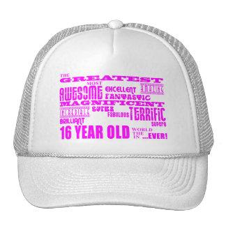Décimosexto cumpleaños de los chicas: 16 años más  gorro