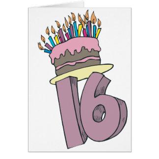 ¡Décimosexto cumpleaños feliz! Tarjeta De Felicitación