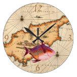 décimosexto/del siglo XVII reloj náutico del mapa