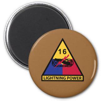 décimosexto División acorazada - poder del Imán Redondo 5 Cm