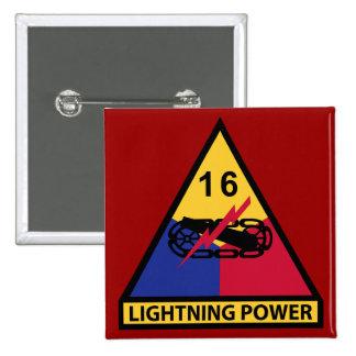 décimosexto División acorazada - poder del Pin Cuadrada 5 Cm