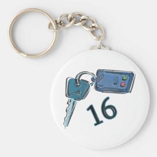 décimosexto El cumpleaños cierra los regalos Llavero Redondo Tipo Pin
